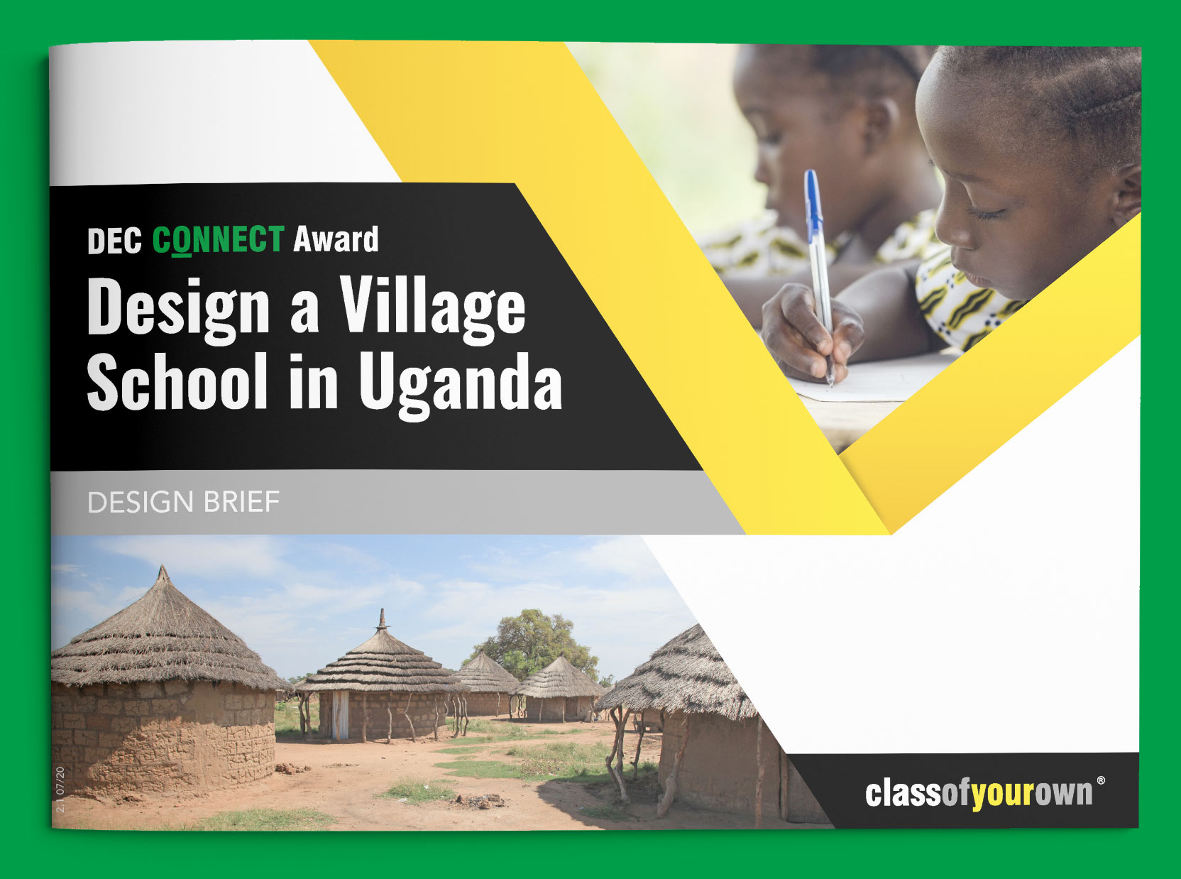 DEC Connect Award - Village School in Uganda design brief cover