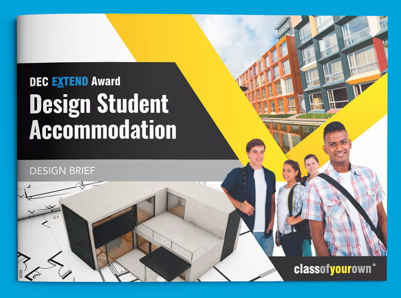 DEC Extend Award - Student Accommodation design brief cover