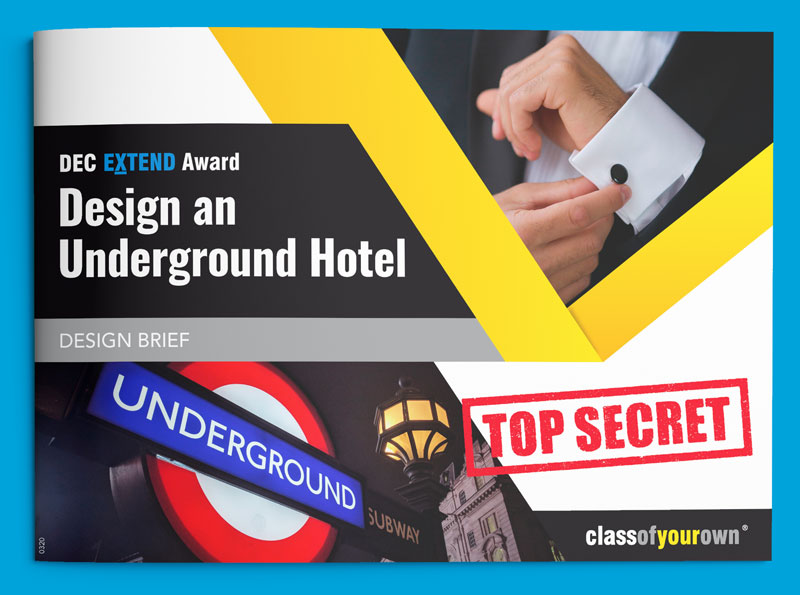 DEC Extend Award - Underground Hotel design brief cover