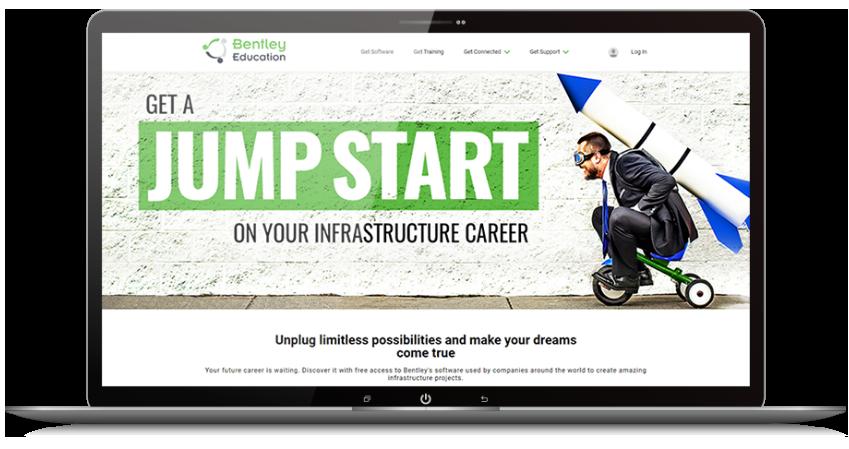 Bentley Education website graphic